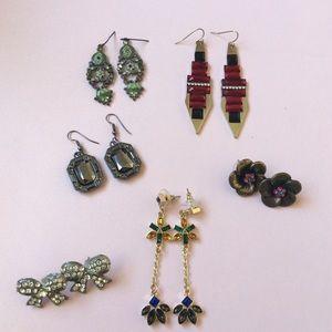 Set of 6 Vintage Earrings